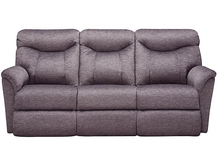 La Z Boy Fortune Reclining Sofa Grey Large