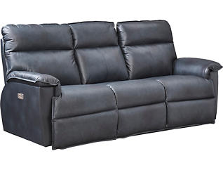 Jay Dual Power Reclining Leather Sofa, , large
