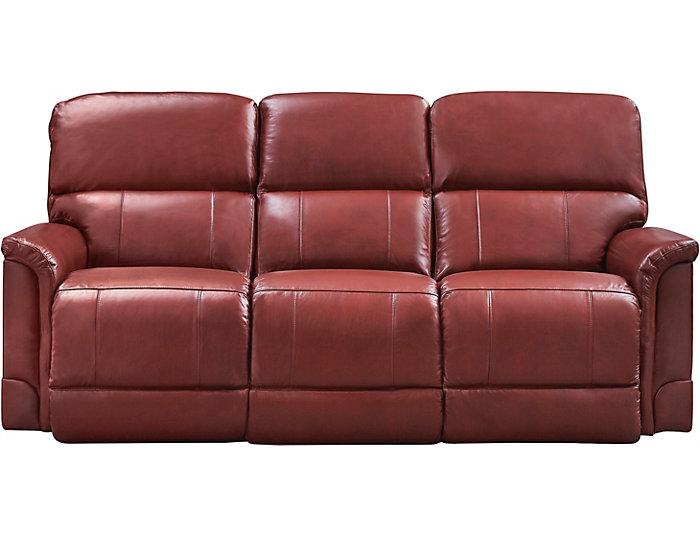 Oscar Dual Power Reclining Leather Sofa Art Van Home