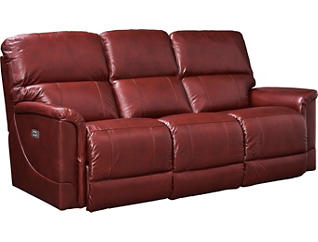 Oscar Dual Power Reclining Leather Sofa, , large