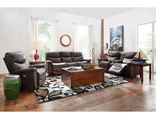James Reclining Console Loveseat, , large