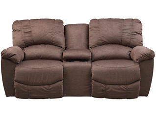 La-Z-Boy Hayes-II Reclining Console Loveseat, Brown, , large