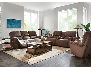 Hayes II Reclining Console Loveseat, , large