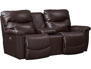 James Dual Power Console Loveseat, , large