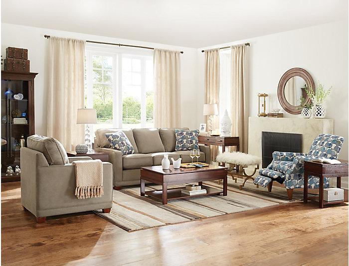 La-Z-Boy Kennedy II Sofa, Granite, Granite, large