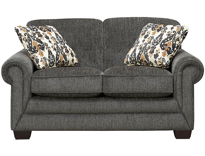 Brilliant Mackenzie Vi Grey Loveseat Unemploymentrelief Wooden Chair Designs For Living Room Unemploymentrelieforg
