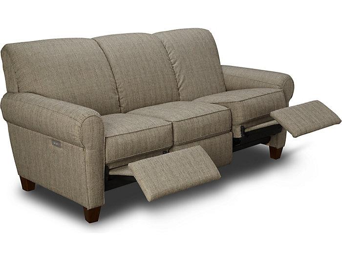 Admirable Bennett Taupe Power Reclining Sofa Dailytribune Chair Design For Home Dailytribuneorg
