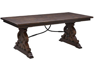 St. Claire Rustic Pine Dining Table, , large