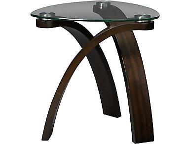 Allure Hazelnut Oval End Table, , large