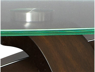 Allure Hazelnut Sofa Table, , large