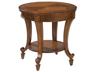 Aidan Round End Table, Cinnamon, , large