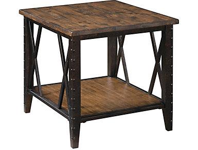 Burlington Rustic End Table, , large