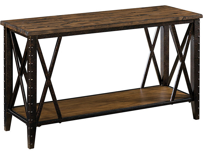 Burlington Rustic Sofa Table, , large