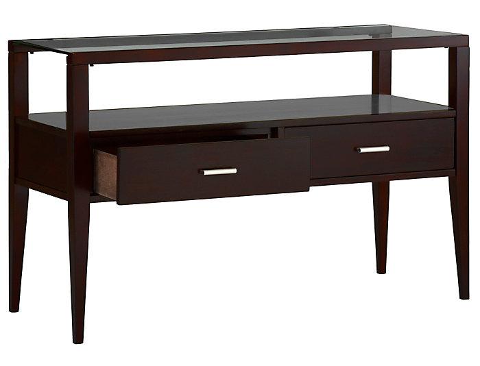 Baker Sofa Table, Brown, , large
