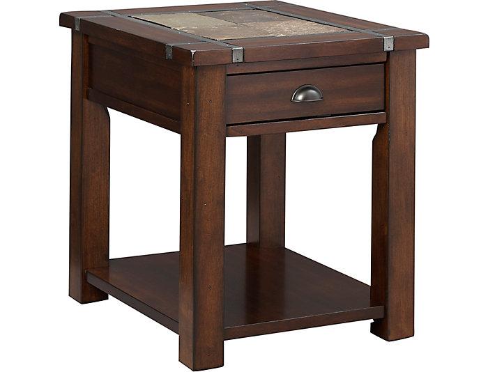 Roanoke Rectangular End Table, , large