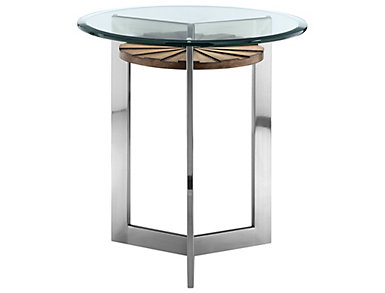 Rialto Round End Table, Metal, , large
