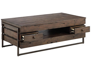 Kirkwood Brown Rectangular Coffee Table, , large