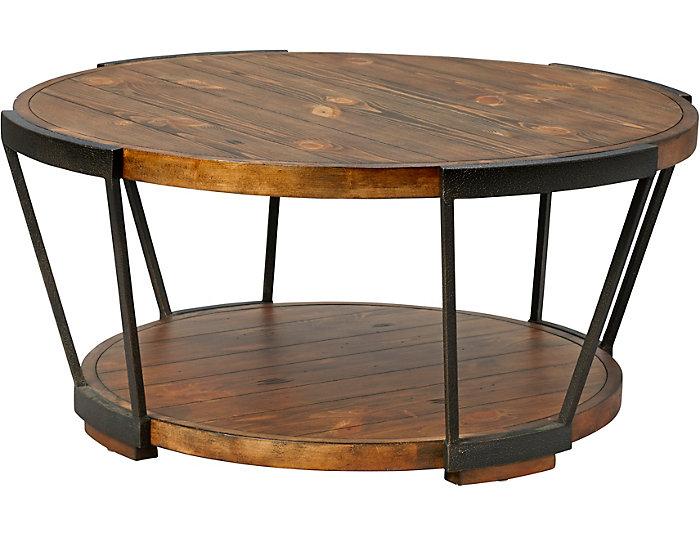 Yukon Brown Round Coffee Table Art Van