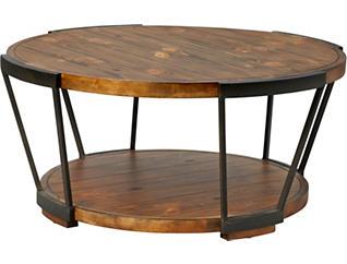 Yukon Brown Round Coffee Table, , large