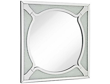 Glass Bead Beveled Mirror, , large