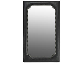 Handsome Faux Snakeskin Mirror, , large