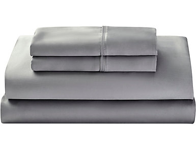 Adrenaline Tencel Slate Twin XL Sheet Set, , large
