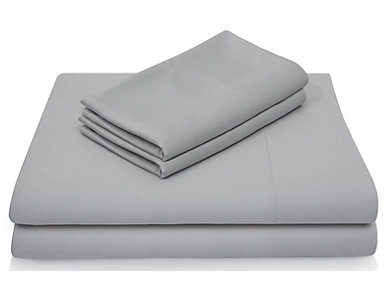 Malouf Bamboo Rayon California King Sheet Set, Ash, , large