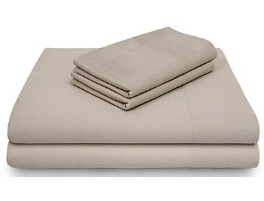 Malouf Bamboo Rayon Queen Sheet Set, Driftwood, , large