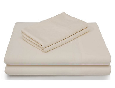 Malouf Bamboo Rayon California King Sheet Set, Ivory, , large