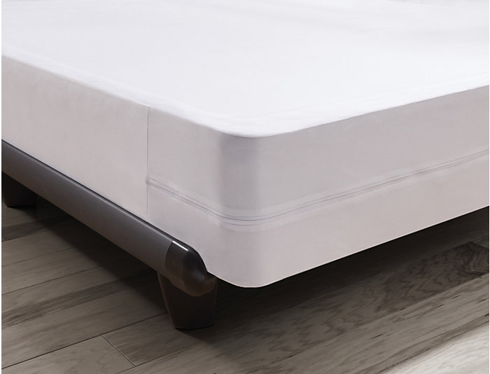 Malouf Full X-Long Bed Bug Box Spring Protector, , large