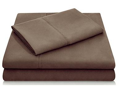 Malouf Microfiber Queen Sheet Set, Chocolate, , large