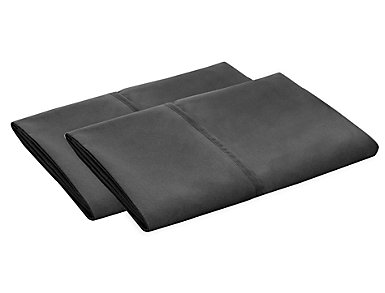 Malouf Microfiber King Pillowcase Set of 2, Black, , large