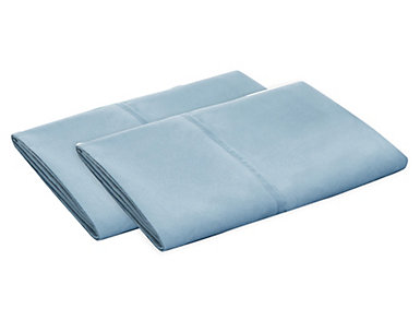 Malouf Microfiber Queen Pillowcase Set of 2, Pacific Blue, , large