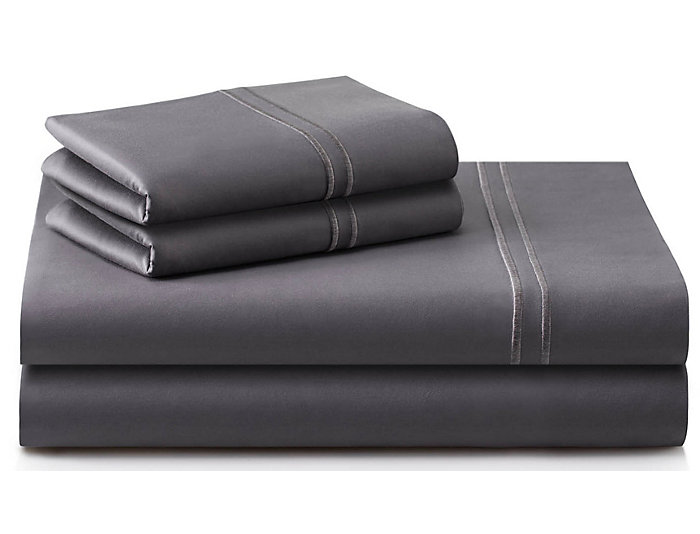 Malouf Supima Cotton Charcoal Split King Sheet Set Art Van Puresleep