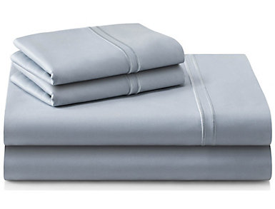 Malouf Supima Cotton Split King Sheet Set, Smoke, , large