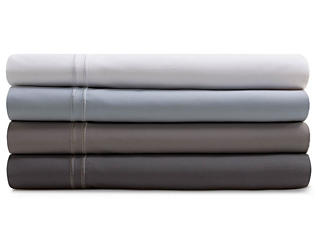 Malouf Supima Cotton White Split King Sheet Set, , large