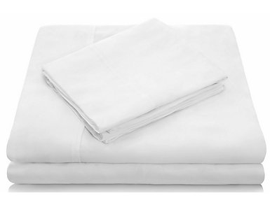 Malouf Tencel White California King Sheet Set, , large