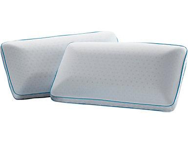 Adrenaline Queen Mid Loft Zen Performance Pillow, , large