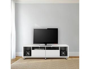 "Cabrini 71"" White TV Stand, White, large"