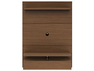 """City 47"""" Nut Brown Floating Wall Unit, Brown, large"""