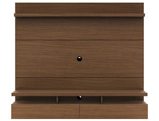 """City 72"""" Nut Brown Floating Wall Unit, Brown, large"""