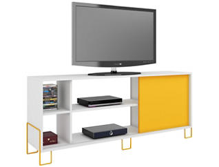 """Nacka 53"""" White TV Stand, , large"""