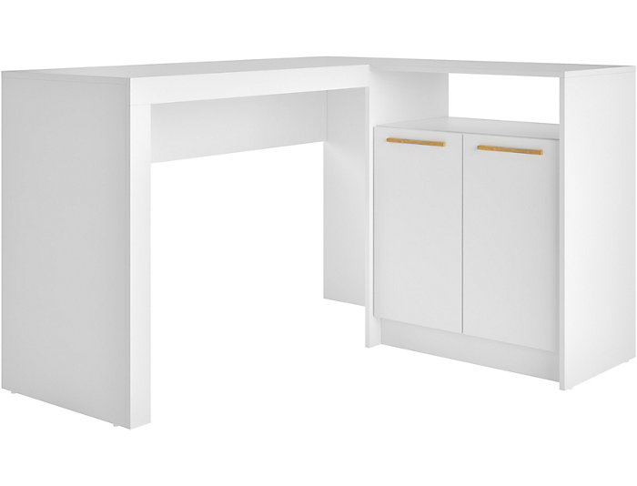 Surprising Kalmar White Corner Desk Art Van Home Bralicious Painted Fabric Chair Ideas Braliciousco