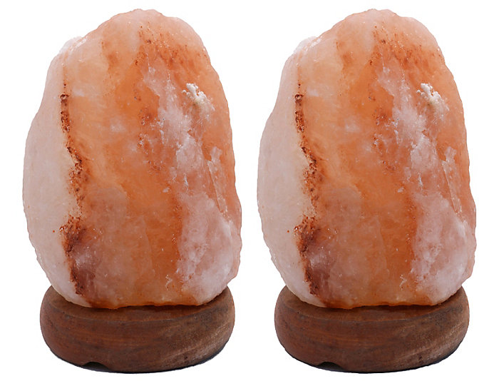 """Two 6"""" Himalayan Salt Lamps, , large"""