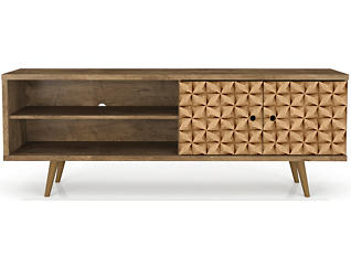"""Oslo 63"""" Brown TV Stand, Brown, large"""