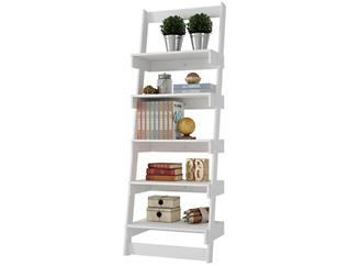 Carpina White Ladder Shelf, , large