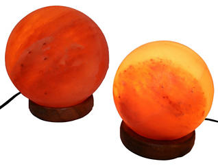 Two Sphere Himalayan Lamps, , large