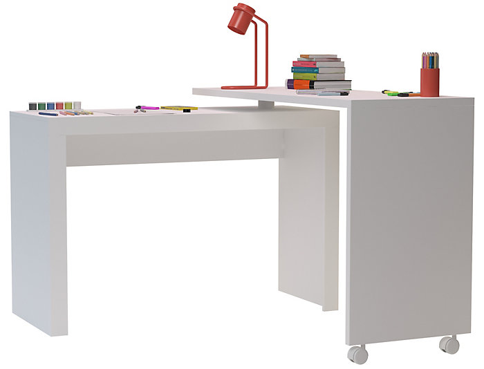 Calabria White Nested Desk, , large