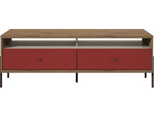 "Uppsala 59"" Red TV Stand, Red, large"