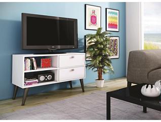 """Dalarna 35"""" White TV Stand, White, large"""